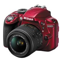 Nikon D3300 Digital SLR Camera with 18-55mm VR II Lens (Red)