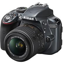 Nikon D3300 Digital SLR Camera with 18-55mm VR II Lens (Grey)