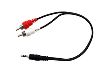 Calrad Stereo Mini Y Adapter 3.5mm Plug to Dual RCA Males (10 In. Long)