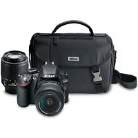 Nikon D3200 Digital SLR Camera with 18-55mm and 55-200mm DX Lenses (Black)
