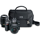Nikon D3200 Digital SLR Camera with 18-55mm and 55-200mm DX Lenses (Black)