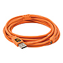 15 ft. TetherPro USB A Male to Mini-B 8-pin Cable (Orange)