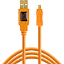 15 ft. TetherPro USB 2.0 Type-A Male to Mini-B Male Cable (Orange)