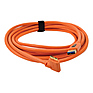 15 ft. TetherPro USB 3.0 Male A to Micro-B Right Angle Cable (Orange)