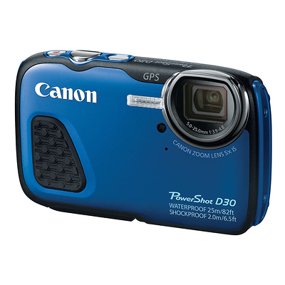 PowerShot D30 Waterproof Digital Camera (Blue) Image 0