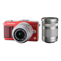 Olympus | E-PM2 Digital Camera with 14-42mm and 40-150mm Zoom Lenses (Red) | V206021RU070