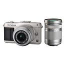 Olympus | E-PM2 Digital Camera with 14-42mm and 40-150mm Zoom Lenses (Silver) | V206021SU070