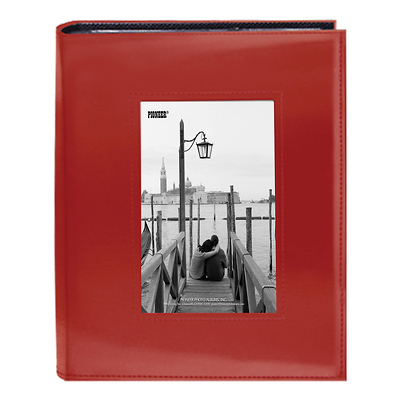4X6-200 Sewn Frame Photo Album Cutout (Red) Image 0