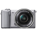 Sony | a5000 Mirrorless Digital Camera with 16-50mm Lens (Silver) | ILCE5000LS