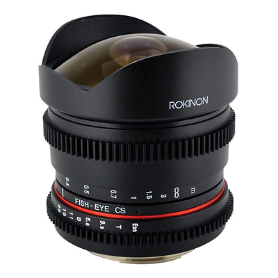 8mm T/3.8 Fisheye Cine Lens with Removable Hood for Canon EF Image 0