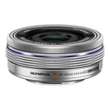 Olympus M.ZUIKO AF Digital ED 14-42mm F3.5-5.6 EZ Lens (Silver)