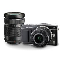 Olympus E-PM2 Mirrorless Micro Four Thirds Digital Camera with 14-42mm & 40-150mm Lenses (Black)