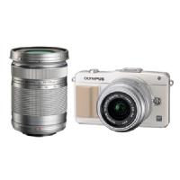 Olympus | E-PM2 Mirrorless Digital Camera with 14-42mm & 40-150mm Lenses (Black) | V206021WU020