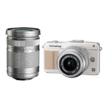 Olympus E-PM2 Mirrorless Micro Four Thirds Digital Camera with 14-42mm & 40-150mm Lenses (White)