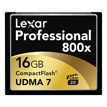 Lexar Media 16GB CompactFlash Memory Card Professional 800x UDMA