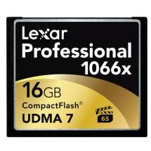 Lexar Media 16GB Professional 1066x Compact Flash Memory Card (UDMA 7)