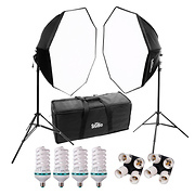 Studio Hybrid Still & Video 2 Light Octagonal Softbox Kit
