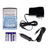 Ikelite | AA NiMH (2500mAh) Batteries (4-Pack) with Charger (with Car Adapter) | 40445