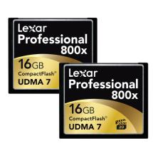 Lexar Media 16GB CompactFlash Memory Card Professional 800x UDMA (2-Pack)