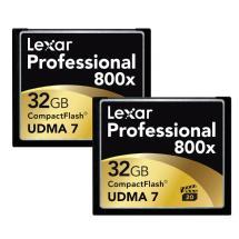 Lexar Media 32GB CompactFlash Memory Card Professional 800x UDMA (2-Pack)