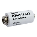 Samy's Camera | 3V Alkaline Battery with Snap Contacts, V24PX | EXA24PX