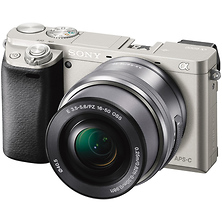 Alpha a6000 Mirrorless Digital Camera with 16-50mm Lens (Silver) Image 0