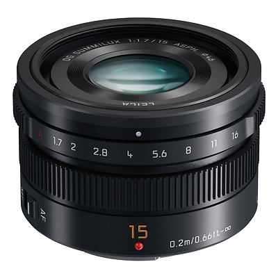 LUMIX G Leica DG Summilux 15mm f/1.7 Lens (Black) Image 0