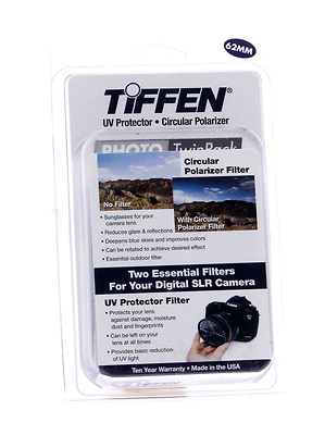 62mm Photo Twin Pack (UV Protection and Circular Polarizing Filter) Image 0