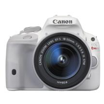 Canon EOS Rebel SL1 Digital SLR Camera with EF-S 18-55mm f/3.5-5.6 IS STM Lens (White)