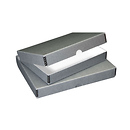 Print File 11x14x3 Clamshell Metal Edge Box (Gray)