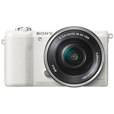 Alpha a5100 Mirrorless Digital Camera with 16-50mm Lens (White) Image 0