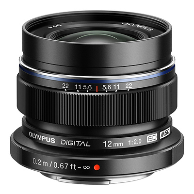 M. Zuiko Digital ED 12mm f/2.0 Lens (Black) Image 0