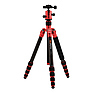 RoadTrip Carbon Fiber Travel Tripod Kit (Red) Thumbnail 0