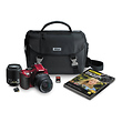 D5200 Digital SLR Camera with 18-55mm and 55-200mm Lenses (Red)