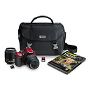 Nikon | D5200 Digital SLR Camera with 18-55mm and 55-200mm Lenses (Red) | 13468