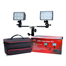 Dot Line Corp. | LED 2-Light Interview Kit with Case | DL-DV2600