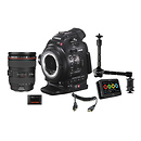 Canon | EOS C100 Cinema Camera Dual Pixel CMOS AF with EF 24-105mm f/4.0L and Ninja 2 Kit | 7428B022