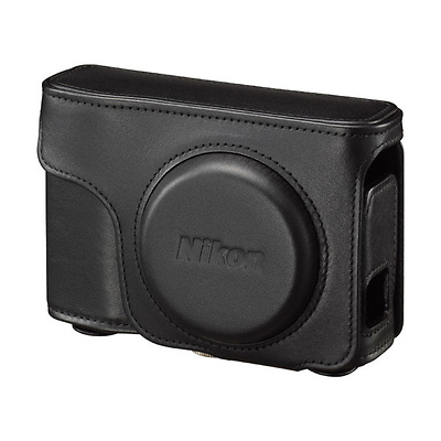 Leather Body Case and Strap for COOLPIX A Digital Camera (Black) Image 0