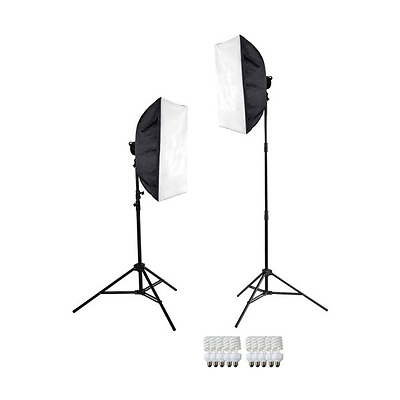2-Light Daylight D5 Softbox Kit Image 0