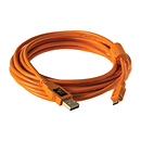 Tether Tools | TetherPro USB 2.0 A Male to Micro-B 5-Pin 15 ft. Cable (Orange) | CU5430ORG