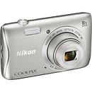 Nikon Coolpix S3700 Compact Digital Camera (Silver)