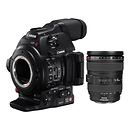 Canon | EOS C100 Mark II Cinema EOS Camera with EF 24-105mm f/4L Lens | 0298C002