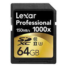 64GB Professional 1000x UHS-II SDHC Memory Card Image 0