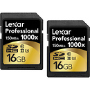 16GB Professional 1000x UHS-II SDHC Memory Card (2 Pack)