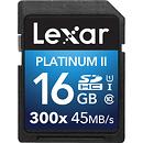 Lexar Media | 16GB Platinum II UHS-I SDHC Memory Card (Class 10) | LSD16GBBNL300