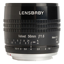 Lensbaby | Velvet 56mm f/1.6 Lens for Pentax K (Black) | LBV56BP