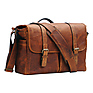 The Brixton Camera/Laptop Leather Messenger Bag (Antique Cognac)