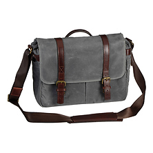 The Brixton Camera/Laptop Messenger Bag (Smoke) Image 0