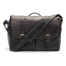 The Brixton Camera/Laptop Leather Messenger Bag (Dark Truffle) Image 0