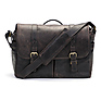 The Brixton Camera/Laptop Leather Messenger Bag (Dark Truffle)